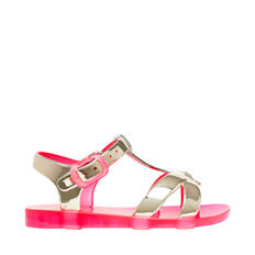 Metallic Cris Cross Sandal