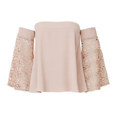 Off Shoulder Frill Top
