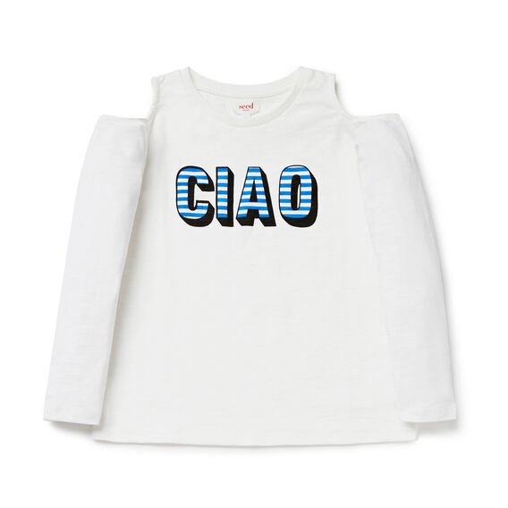 Ciao Cold Shoulder Tee
