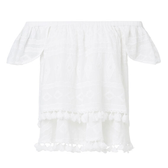 Embroidered Petal Top