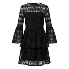 Bell Sleeve Broderie Dress