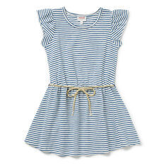 Stripe Rope Tie Dress