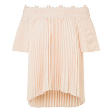 Off Shoulder Pleat Top