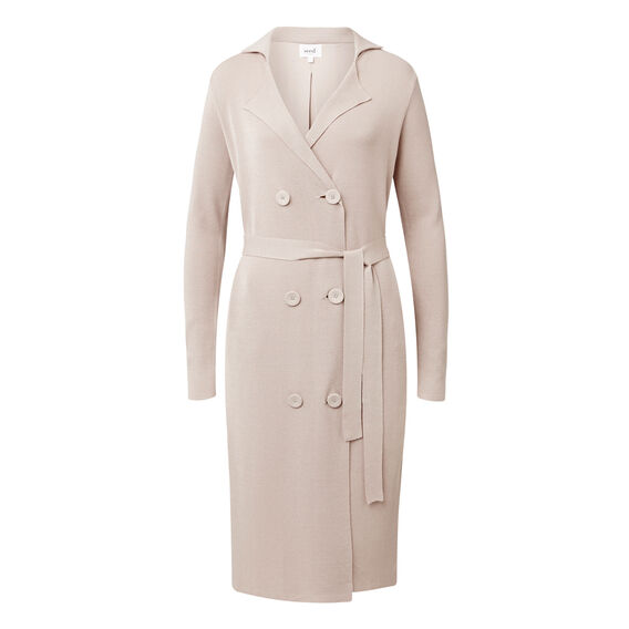 Crepe Knit Trench