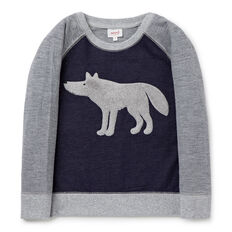 Wolf Applique Sweater