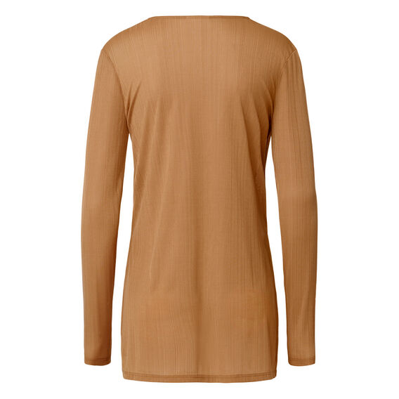 Dipped V-neck Long Sleeve Tee