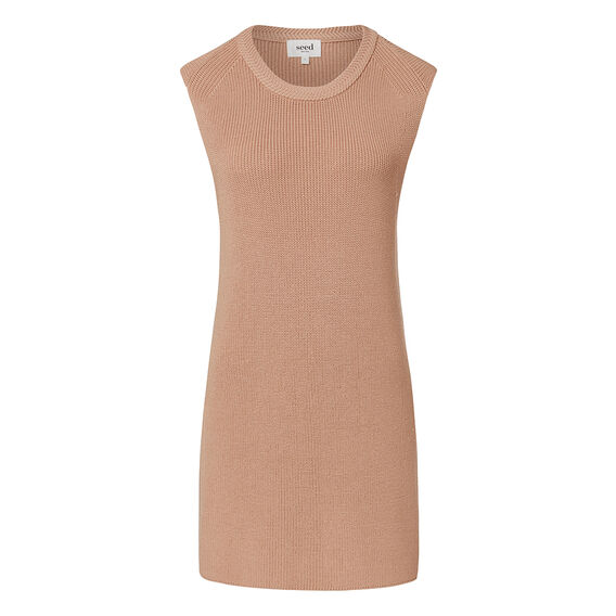 Collection Longline Crepe Knit Tank