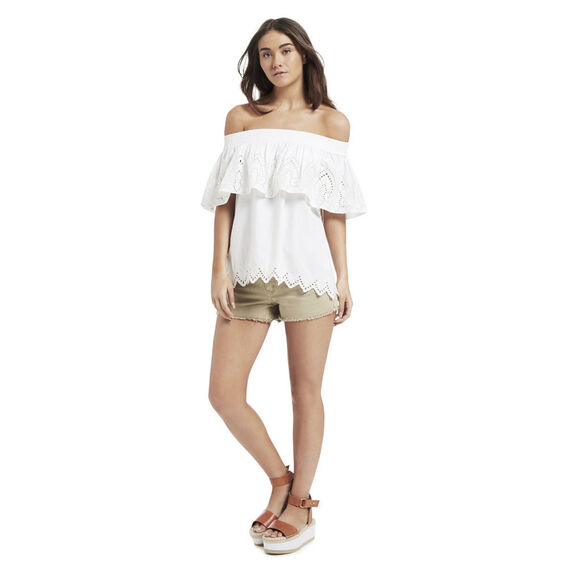 Strapless Broderie Top