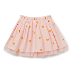 Tulle Trim Skirt