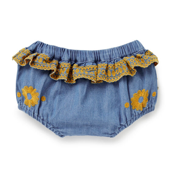 Chambray Embroidered Bloomer