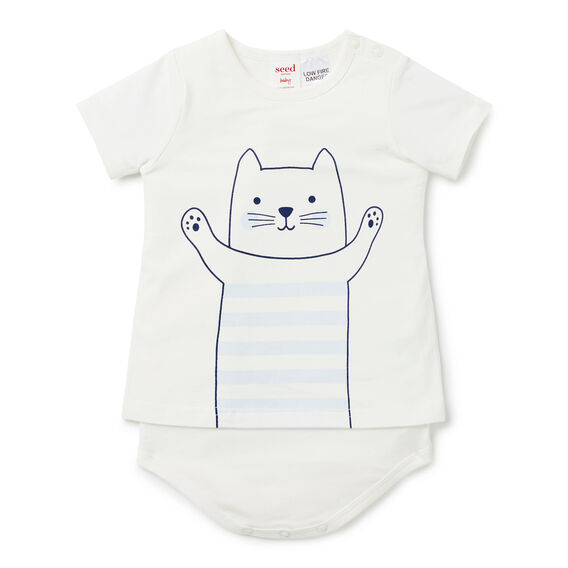 Stripe Cat Bodysuit