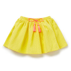 Textured Pop Trim Skirt