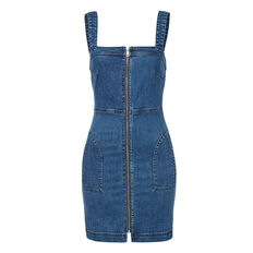 Denim Zip Up Dress
