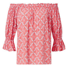 Frill Sleeve Printed Top