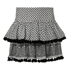 Pattern Tassel Skirt