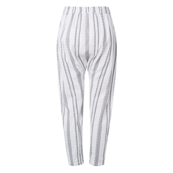 Self Stripe Harem Pants