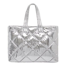 Shiny Quilted Tote