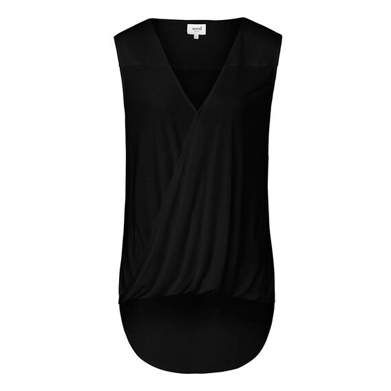 Sleeveless Wrap Tee