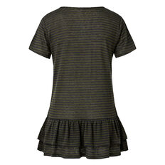 Double Frill Stripe Tee