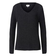Mixed Shaker Deep V Knit