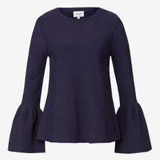 Bell Sleeve Flared Knit Top