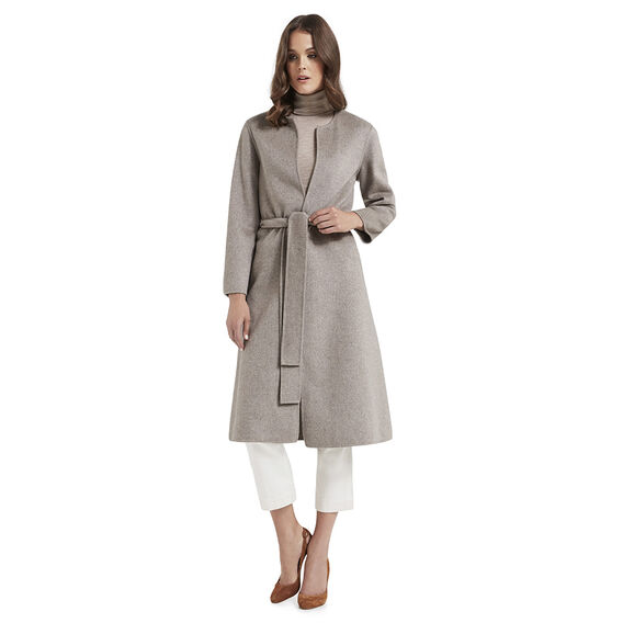 Long Sleeve Wrap Coat