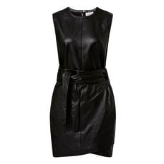 Leather Wrap Dress