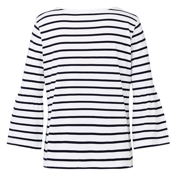 Frill Sleeve Stripe Top