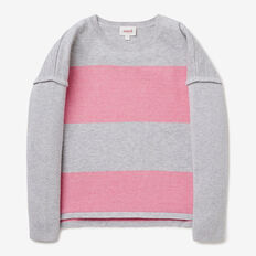 Stripe Split Sweater