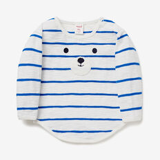 Stripe Bear Face Tee