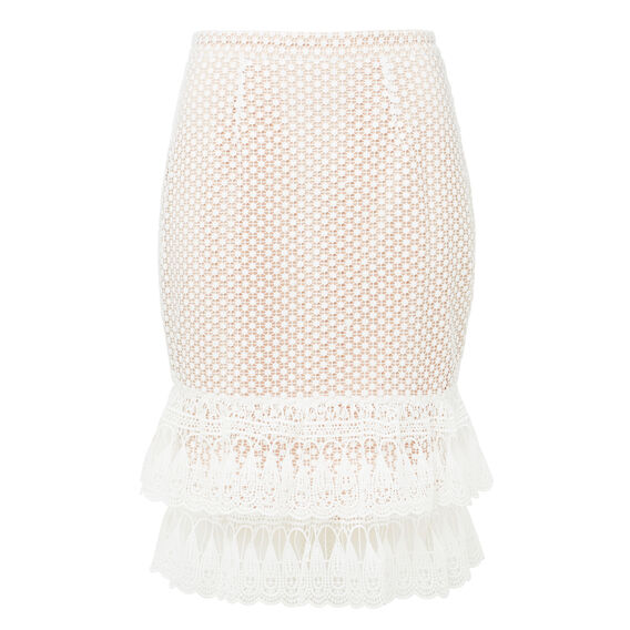 Frill Lace Pencil Skirt