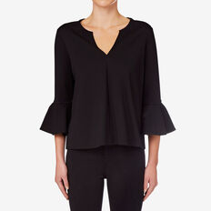 Ponte Frill Sleeve Top