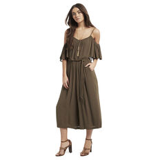 Tiered Culotte Jumpsuit