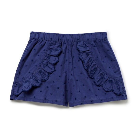 Tropical Embroidered Shorts