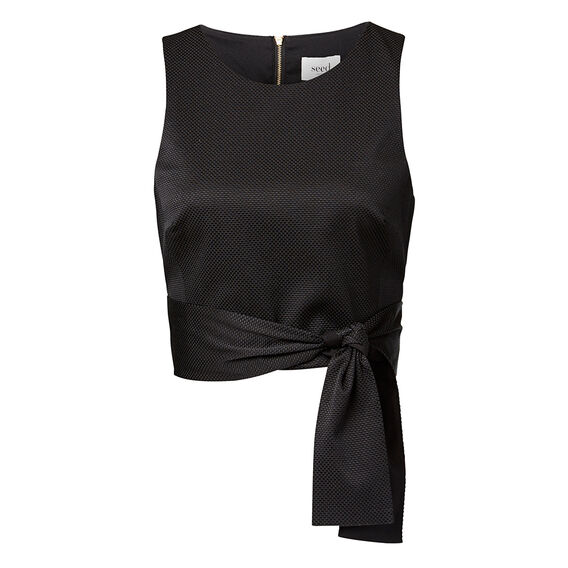Collection Cropped Tie Top