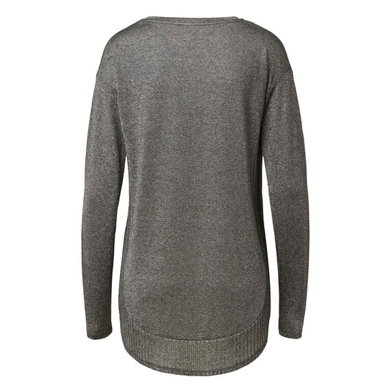Ribbed Hem Long Sleeve Tee
