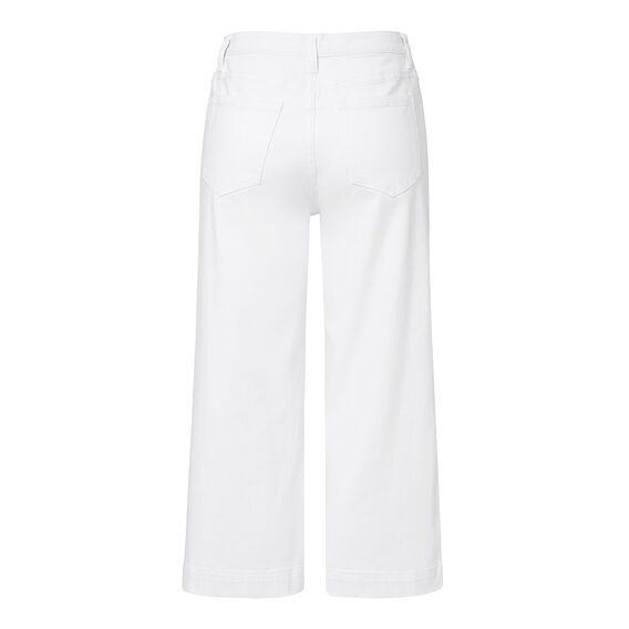 White Denim Culotte