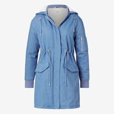 Denim Blue Parka