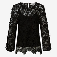 Open Sleeve Lace Blouse