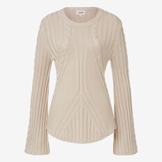 Flared Sleeve Cable Knit