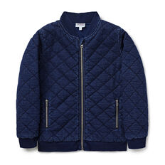 Zip Up Quilted Bomber