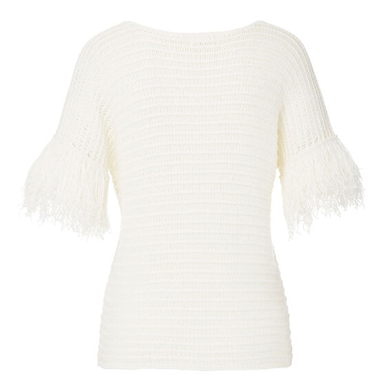 Resort Tassel Open Sleeve Sweater  CREAM  hi-res
