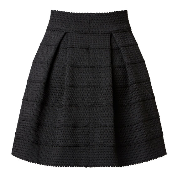 Tier Mini Skirt  BLACK  hi-res