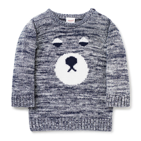 Bear Intarsia Knit  MIDNIGHT BLUE  hi-res