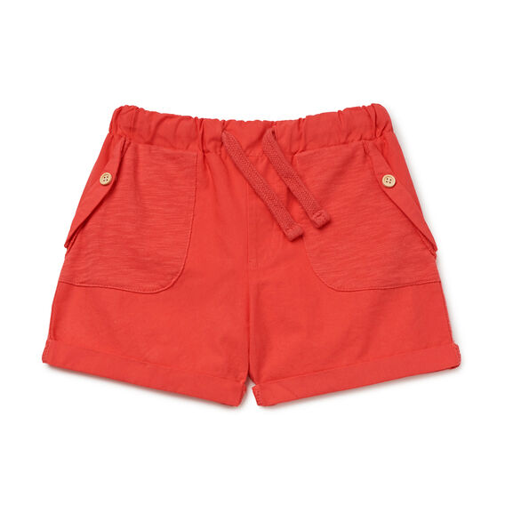 Woven Spliced Short  RACING RED  hi-res