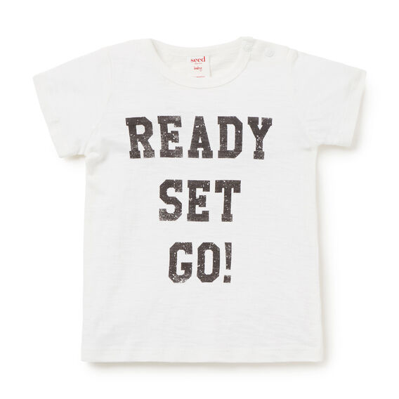Ready Set Go Tee  VINTAGE WHITE  hi-res