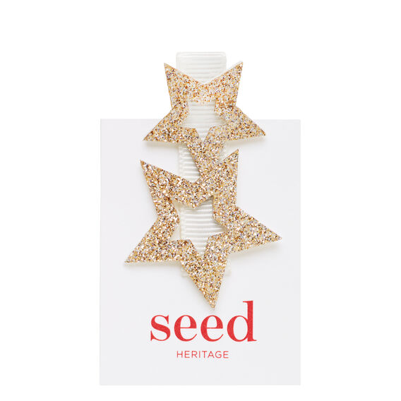 Cut Out Star Clip  WHITE  hi-res