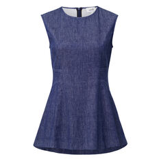 Denim Twill Sleeveless Top  INDIGO BLUE DENIM  hi-res