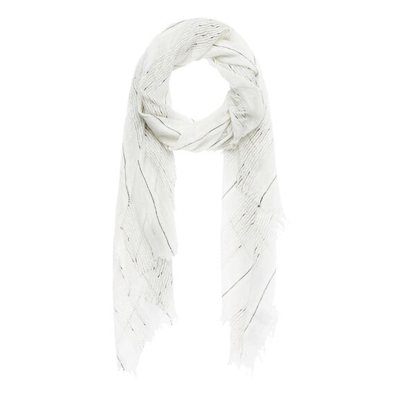 Metallic Slub Scarf  WHITE  hi-res