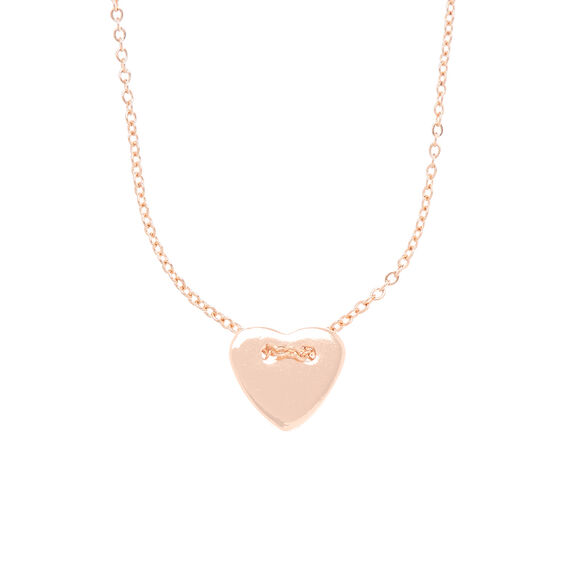 Heart Charm Necklace  ROSE GOLD  hi-res